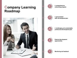 Company Learning Roadmap Development Opportunities E246 Ppt Powerpoint Presentation
