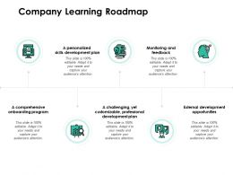 Company Learning Roadmap Development Opportunities Ppt Powerpoint Presentation Show