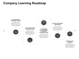 Company Learning Roadmap Development Plan Powerpoint Presentation Example