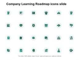 Company Learning Roadmap Icons Slide Our Goal Gears E238 Ppt Powerpoint Presentation