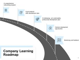Company Learning Roadmap Mind Map Ppt Powerpoint Presentation Portfolio