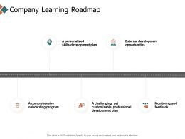 Company Learning Roadmap Timeline Opportunities Ppt Powerpoint Presentation Icon Designs