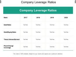Company Leverage Ratios