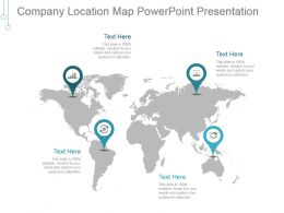 Company Location Map Powerpoint Presentation
