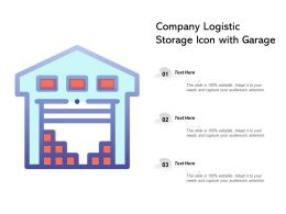 Company Logistic Storage Icon With Garage