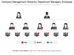 Company Management Hierarchy Department Managers Employee