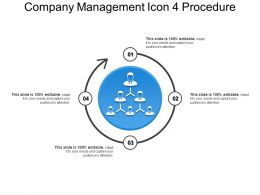 Company Management Icon 4 Procedure