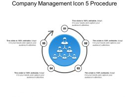 Company Management Icon 5 Procedure