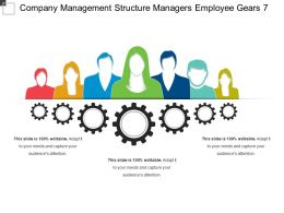 Company Management Structure Managers Employee Gears 7