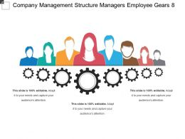 Company Management Structure Managers Employee Gears 8