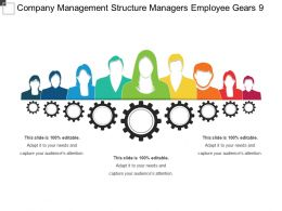Company Management Structure Managers Employee Gears 9