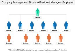 Company Management Structure President Managers Employee