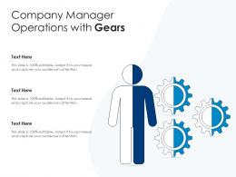 Company Manager Operations With Gears