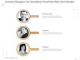 Company Managers Job Descriptions Powerpoint Slide Deck Samples
