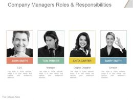 Company Managers Roles And Responsibilities Powerpoint Slide Designs