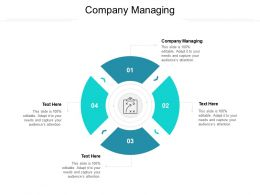 Company Managing Ppt Powerpoint Presentation Pictures Graphics Example Cpb
