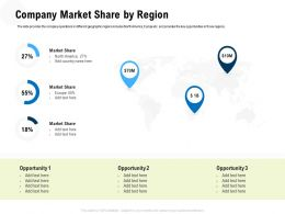 Company Market Share By Region M3318 Ppt Powerpoint Presentation Portfolio Display
