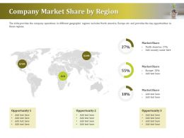 Company Market Share By Region Ppt Powerpoint Presentation Gallery Pictures
