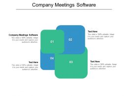 Company Meetings Software Ppt Powerpoint Presentation Gallery Summary Cpb