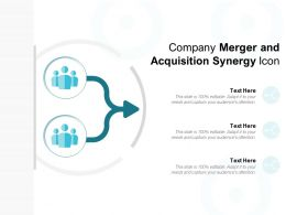 Company Merger And Acquisition Synergy Icon