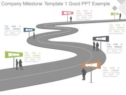 Company Milestone Template1 Good Ppt Example