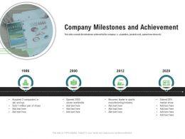 Company Milestones And Achievement M3347 Ppt Powerpoint Presentation File Graphics Design