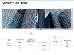 Company Milestones Announced City Ppt Powerpoint Presentation Professional Deck