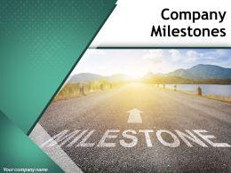 Company Milestones Powerpoint Presentation Slides
