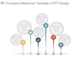 Company Milestones Template2 Ppt Design