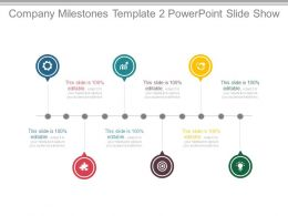 Company Milestones Template 2 Powerpoint Slide Show