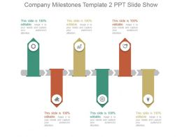 Company Milestones Template 2 Ppt Slide Show