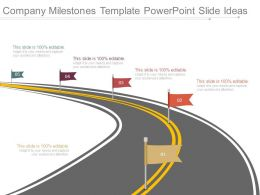 Company Milestones Template Powerpoint Slide Ideas