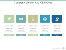 Company Mission And Objectives Powerpoint Show