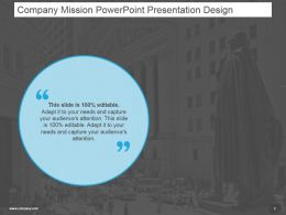Company Mission Powerpoint Presentation Design