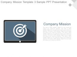 Company Mission Template3 Sample Ppt Presentation