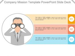 Company Mission Template Powerpoint Slide Deck