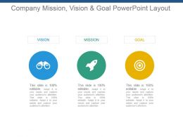Company Mission Vision And Goal Powerpoint Layout