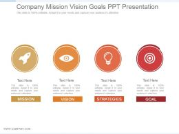 Company Mission Vision Goals Ppt Presentation