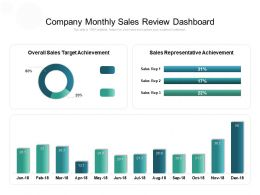 Company Monthly Sales Review Dashboard