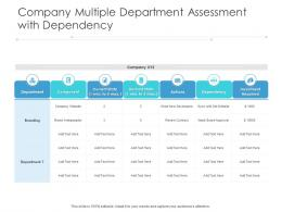 Company Multiple Department Assessment With Dependency