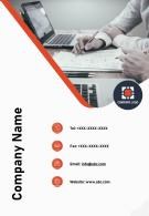 Company Name Contact Us Page Annual Credit Report Sample Report Infographic PPT PDF Document