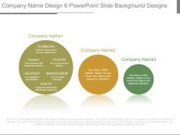 Company Name Design 6 Powerpoint Slide Background Designs