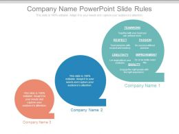 Company Name Powerpoint Slide Rules