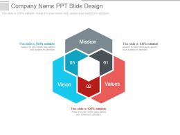 Company Name Ppt Slide Design