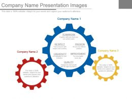 Company Name Presentation Images