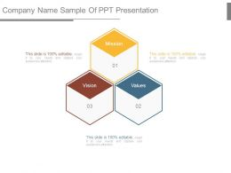 Company Name Sample Of Ppt Presentation
