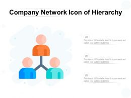 Company Network Icon Of Hierarchy