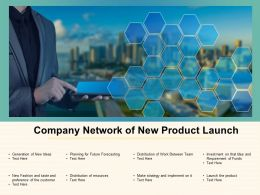 Company Network Of New Product Launch