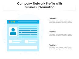 Company Network Profile With Business Information