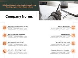 Company Norms Customer Obsessed Period Ppt Powerpoint Presentation File Graphics